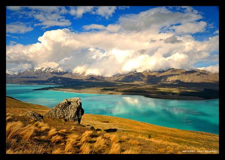 Фото ' Лазурная река в горах' Работы фотографа Anthony который из Окленда, Новая Зеландия (© Штушка), добавлено: 21.01.2012 20:07