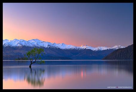 Фото ' Озеро и горы' Работы фотографа Anthony который из Окленда, Новая Зеландия