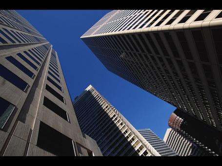 Фото Вид небоскрёбов с земли