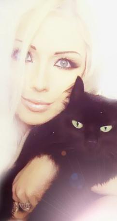 Фото Лера Лукьянова с котом по кличке Бегемот  (© Флориссия), добавлено: 24.01.2012 11:26