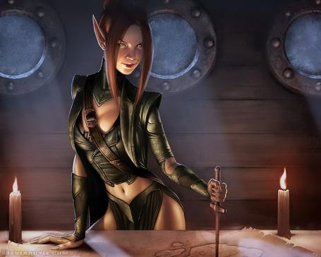 Фото Эльфийская девушка в погоне за сокровищами