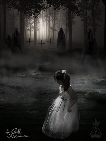 Фото Девочка увидела тёмных монахов гуляющих по кладбищу (© Флориссия), добавлено: 30.01.2012 16:42