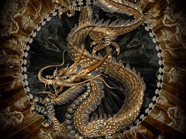 """Близнецы - Схема вышивки  """"Китайский дракон """" - Схемы вышивки - Натали_Тата - Авторы - Портал  """"Вышивка крестом """" ."""