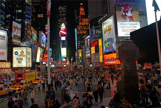 Ночной город нью йорк new york city сша usa