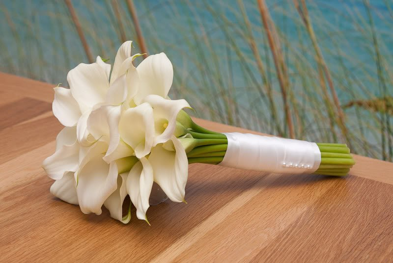 Букет из калл невесте, азиатских лютиков купить