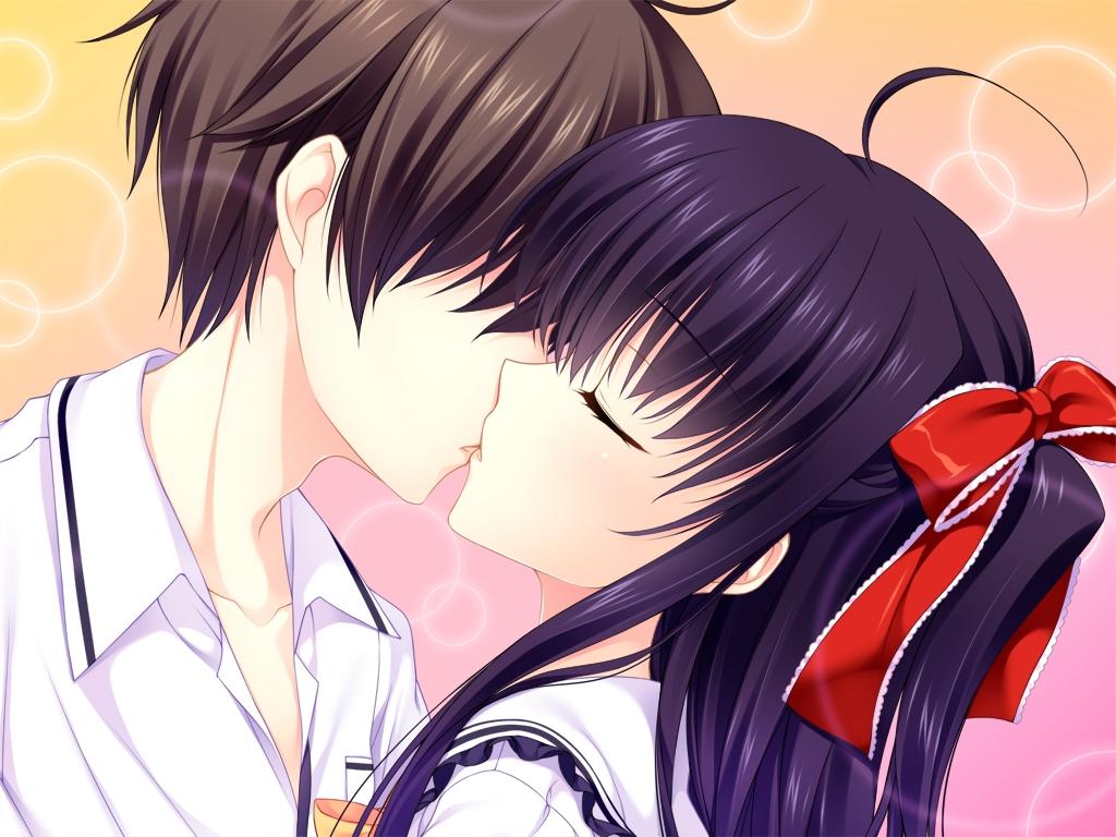 Девочке годиками, картинки аниме любовь и поцелуи