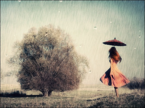 photo of girls with umbrellas № 22136