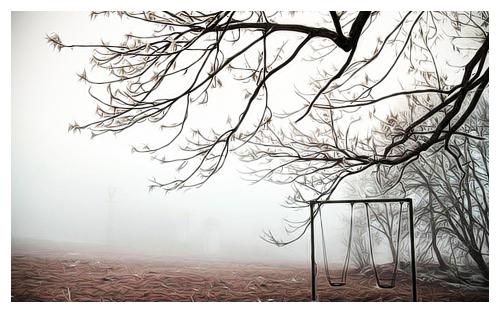 Фото Качель у дерева