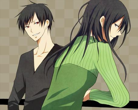 Фото Орихара Изая и Нами Ягири из аниме Durarara (© D.Phantom), добавлено: 07.02.2012 21:06