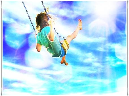 Фото Девушка катается на качелях, взлетая высоко в небо (© Флориссия), добавлено: 14.02.2012 17:57