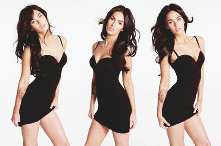 Фото Megan Fox / Меган Фокс в черном платье