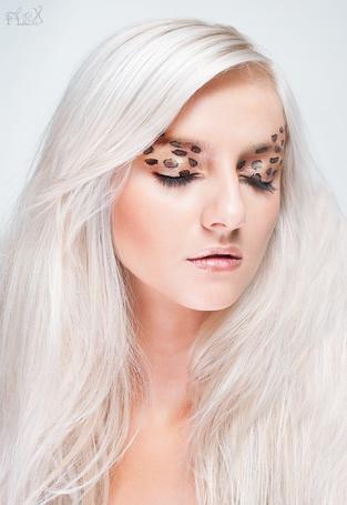 Фото Блондинка с леопардовым макияжем (© Штушка), добавлено: 17.02.2012 17:50