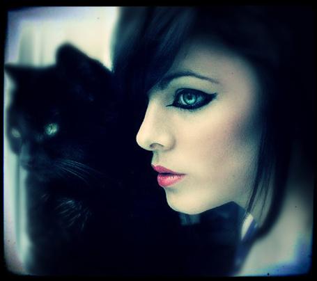 Фото Девушка с чёрным котом (© Флориссия), добавлено: 18.02.2012 16:25