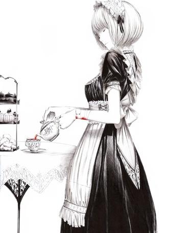 Фото Девушка-служанка наливает чай (© Krista Zarubin), добавлено: 20.02.2012 21:36