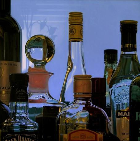 Фото Бутылки с элитным алкоголем, гиперреалистичные картины художника Jason de Graaf (© Radieschen), добавлено: 27.02.2012 16:46