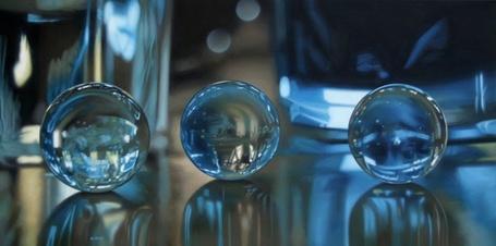 Фото Три стеклянных шарика, гиперреалистичные картины художника Jason de Graaf (© Radieschen), добавлено: 27.02.2012 16:47