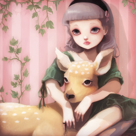 Фото Девушка с оленем (© Штушка), добавлено: 29.02.2012 03:38