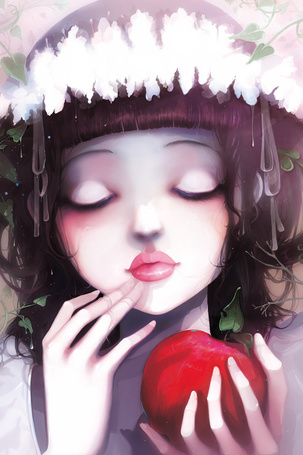 Фото Девушка с яблоком (© Штушка), добавлено: 29.02.2012 03:38