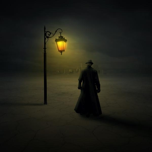 Фото Мужчина в плаще и шляпе под фонарем, фотограф Zoltan Toth: http://photo.99px.ru/i/?pid=47071