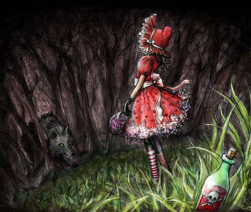 Фото волк и красная шапочка