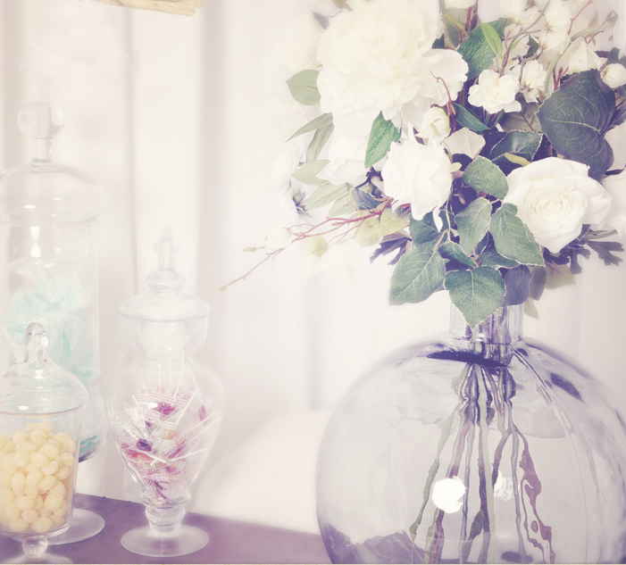 Фото букет цветов в круглой