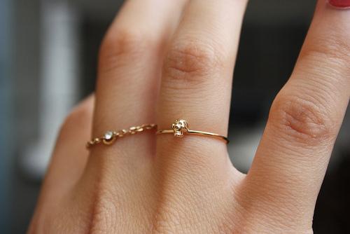 Простые кольца своими руками фото