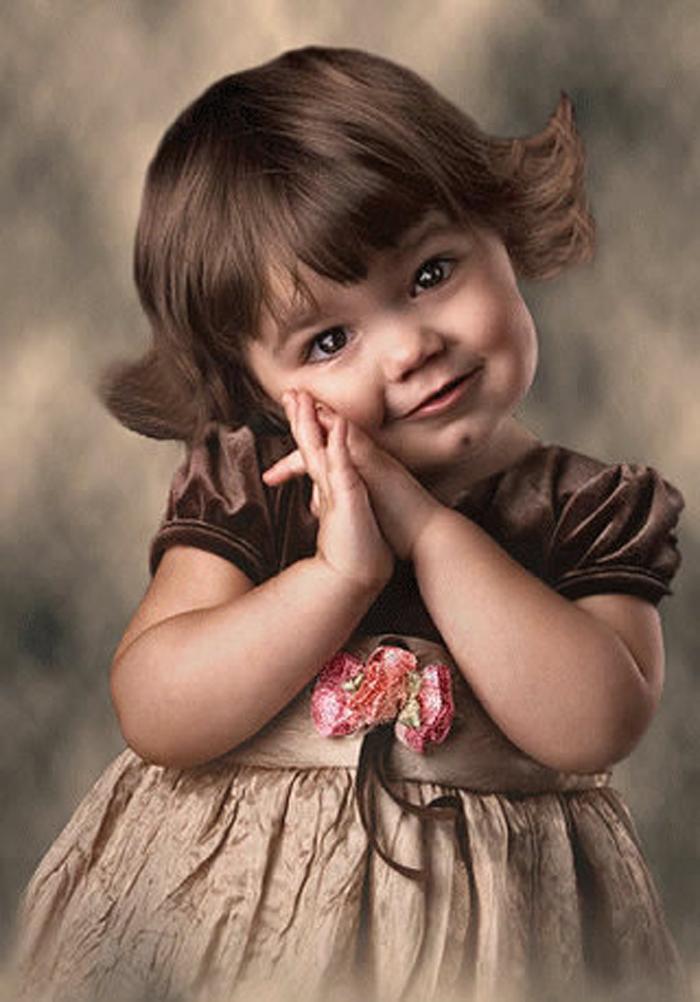 Фото детей открытка девочка