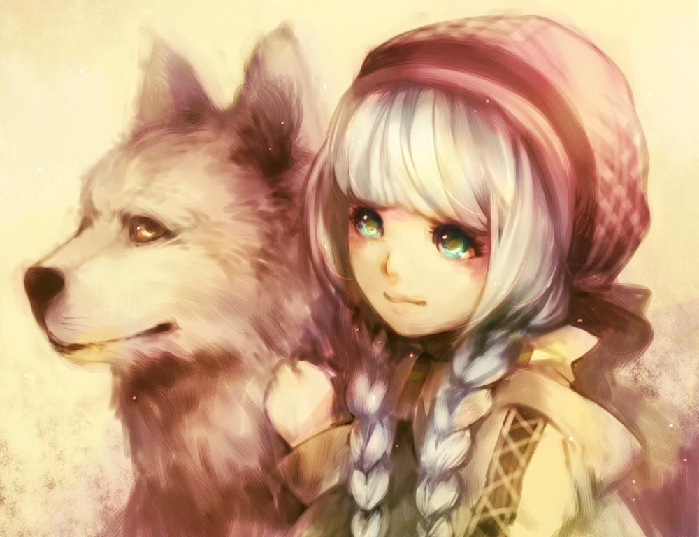 Картинки девочка с собакой аниме, открытке