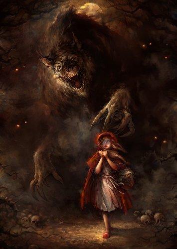 Фото красная шапочка и страшный волк