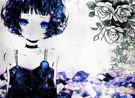 Фото Бриллиантовая девушка + цветы и ноты (© D.Phantom), добавлено: 01.03.2012 08:32