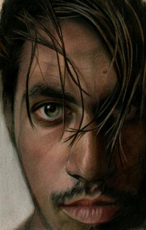Фото Портрет парня с зелеными глазами, рисунок карандашами, художник Brian Scott, Briscott (© Radieschen), добавлено: 02.03.2012 04:03