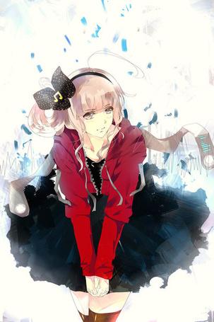 Фото Анимешная девушка с розовыми волосами