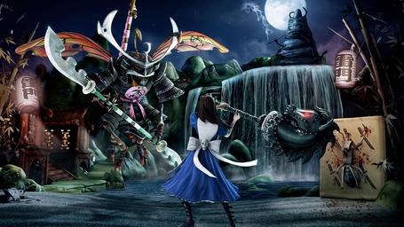 Фото Фото Alice: Madness Returns (рус. Алиса: Безумие Возвращается).Алиса атакует