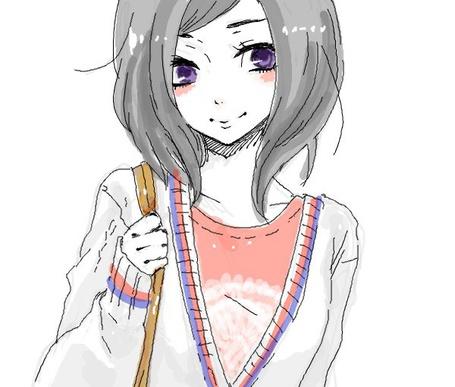 Фото Девушка с фиолетовыми глазами