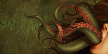Фото Изо рта у девушки вырывается осьминог, художница Даниэла Улиг / Daniela Uhlig (© Radieschen), добавлено: 17.03.2012 11:17