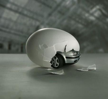 Фото Неожиданные фантазии - из яйца вылупляется авто (© Anatol), добавлено: 18.03.2012 22:19