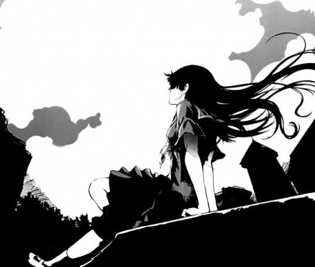 Фото Девушка на крыше смотрит на небо (© Фенн), добавлено: 19.03.2012 20:06