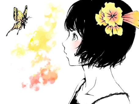 Фото Девушка смотрит на бабочку (© D.Phantom), добавлено: 22.03.2012 18:13