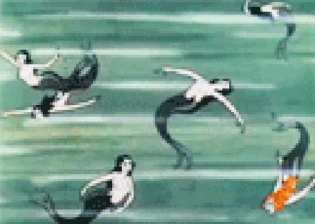 Фото Русалочки плавают в море