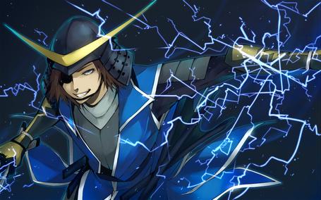 Фото Масамунэ Датэ / Masamune Date из аниме Эпоха смут / Sengoku Basara, art by Aoshiki