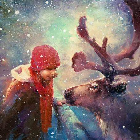Фото Герда с оленем, художник Blaz Porenta / Блаз Порента (© Coupable), добавлено: 30.03.2012 11:26
