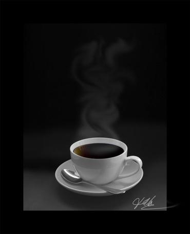 Фото Чашка горячего кофе (© Anatol), добавлено: 31.03.2012 19:55