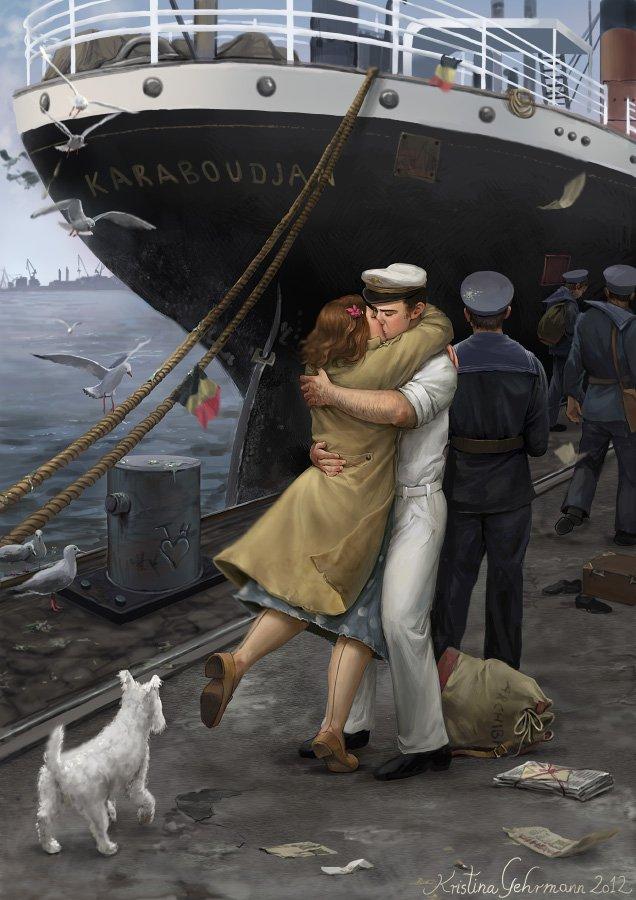 Корабль с людьми картинки
