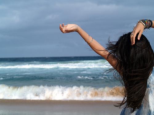 Девушки красивые море природа