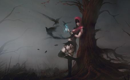 Фото Ведьма выпускает в небо нечистую силу