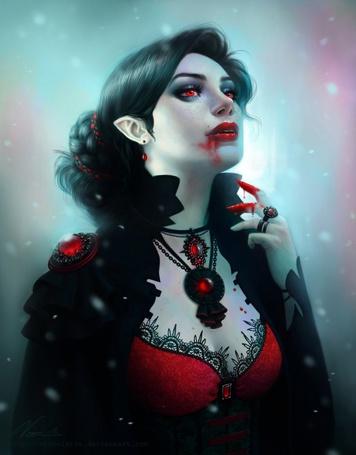 Фото Девушка - вампир