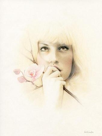 Фото Девушка с цветком (© Anatol), добавлено: 10.04.2012 18:49