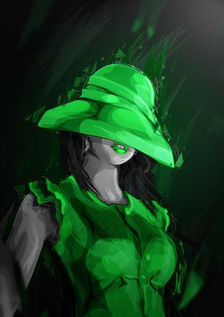 Фото Девушка в зеленом, с шляпкой на голове, иллюстратор Mart Biemans (© Radieschen), добавлено: 15.04.2012 08:50