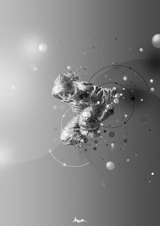 Фото Силуэт серого человека, иллюстратор Mart Biemans (© Radieschen), добавлено: 15.04.2012 08:54