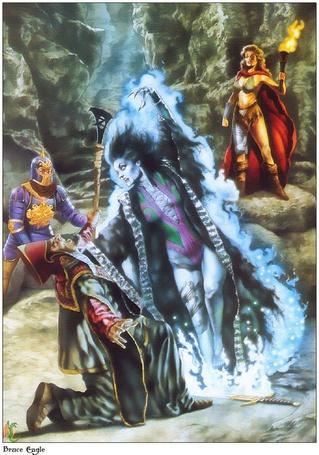 Фото Волшебница с помощью магии убивает чёрного мага (Brace Eagle)